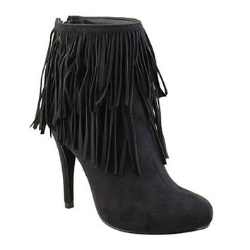 Michael Antonio Melvins Fringe Booties - JCPenney
