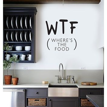 Vinyl Decal Wall Sticker Decor for Kitchen Food Funny Mural WTF Unique Gift (g090)