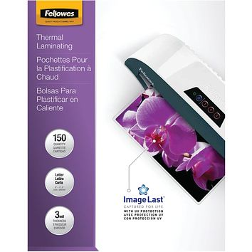 Fellowes Letter Laminating Pouches 150 Pk
