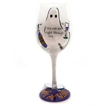 Tabletop YOU CAN SEE RIGHT THROUGH ME LOLITA WINE GLASS Glass Halloween 4054992