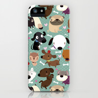 Dog pattern iPhone & iPod Case by Maria Jose Da Luz | Society6
