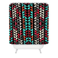 Caleb Troy Volted Triangles 02 Shower Curtain