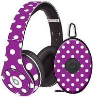White Polka Dot on Purple Skin  for the Beats Studio Headphones & Case by skinzy.com