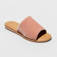 Women's Dorathea Velvet Slide Sandals - A New Day™