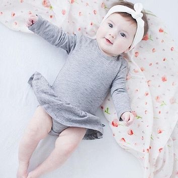 spring autumn newborn baby clothes hot baby rompers girl bloomer ruffle romper long sleeve cotton baby sleeper baby girl clothes