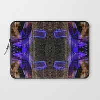 City Synthesis Laptop Sleeve by RichCaspian