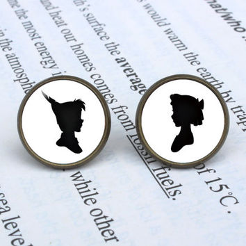 Handmade Peter Pan and Wendy earrings Peter Pan and Wendy post earring Peter Pan and Wendy arrings Jewelry, Gift