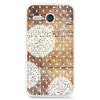 Hard Plastic Case for Moto G, CasesByLorraine Wood Print Floral Pattern Polka Dots PC Case Plastic Cover for Motorola Moto G (G13)