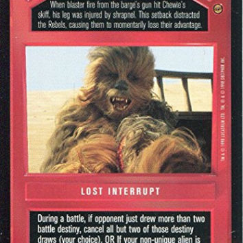 Star Wars CCG Jabbas Palace Card Wounded Wookie