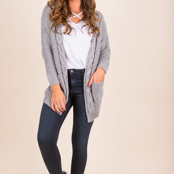 To Love Somebody Cardigan, Silver