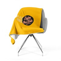 "Juan Paolo ""Enjoy The Ride"" Yellow Vintage Fleece Throw Blanket"