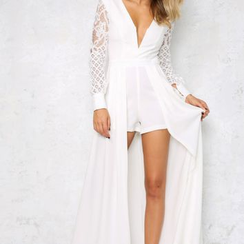 Sweet Success Maxi Playsuit White