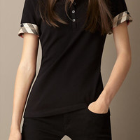 Check Lined Polo Shirt