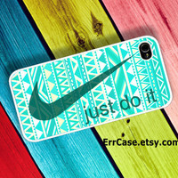Nike Just Do It Mint Design Case , Nike Case , Just do it Case , Aztec Case , Mint Case : Iphone 4/4s case Iphone 5 case Galaxy S3