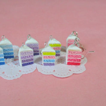 Ombre Cake Dangling Earrings
