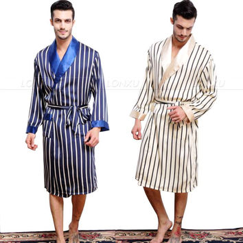 f2b5801f3c Mens Silk Satin Pajamas Pajama Pyjamas PJS Sleepwear Robe Robes
