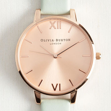 Undisputed Class Watch in Mint & Rose Gold - Big | Mod Retro Vintage Watches | ModCloth.com