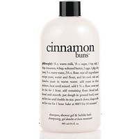 cinnamon buns | shampoo, shower gel & bubble bath | philosophy