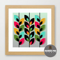 Joyful Plants III Art Print | Digital | Printable | Illustration |Instant Download | Art Print