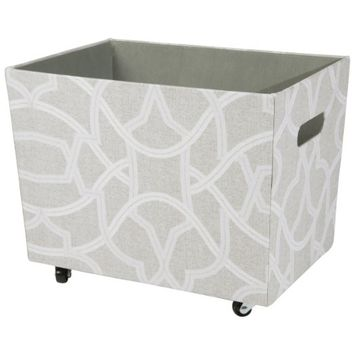 Raymond Waites Printed Canvas Storage Bin (ON3 with Wheels)
