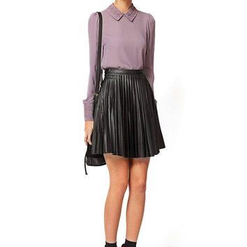 Pleat Skirt in Black