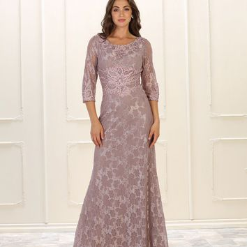 Long Mother of the Bride Formal Dress Plus Size