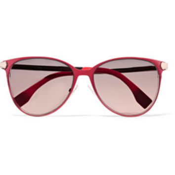 Fendi D-frame metal sunglasses – 52% at THE OUTNET.COM