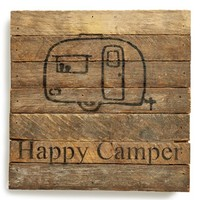 Second Nature By Hand 'Happy Camper' Repurposed Wood Wall Art