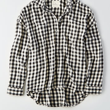 AEO Ahh-Mazingly Soft Flannel Popover, Black