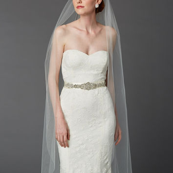 Cut Edge Waltz Length Veil