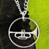 Trumpet Marching/School Band Horn Player thin rim style