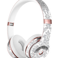 Silver and White Damask Pattern Full-Body Skin Kit for the Beats by Dre Solo 3 Wireless Headphones