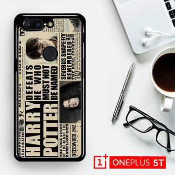 December2012 Harry Potter Daily Prophet F0163  OnePLus 5T / One Plus 5T Case