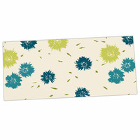 "Gukuuki ""Blue Mollie"" Teal Beige Desk Mat"