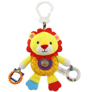 Infant Baby Toys Cute Plush Lion for Pushchair Pram Car Seat