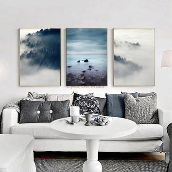 3 Piece No Frame Landscape Poster Scandinavian Canvas Painting For Living Room Wall Picture  Print Nordic Art Home Decor