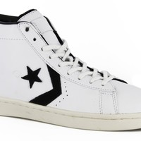 Converse Pro Leather Mid Trash Talk Skate Shoes - white - Free Shipping