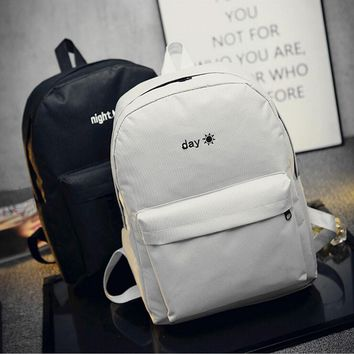 1PC Fashion Lovers Backpacks Men Women Canvas Embroidery School Bag For Teenagers Student Book Bags Back Pack
