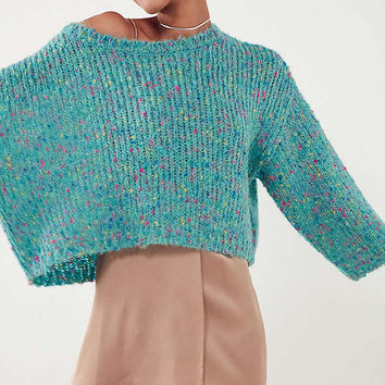 Ecote Rainbow Flecked Dolman Sweater   Urban Outfitters