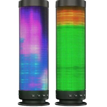 ✮ LED Pulse Bluetooth 4.0 Full Spectrum Smart Speaker! Tribe Wireless Indoor Outdoor Speaker, Built In Microphone For Answering Calls / Loud & Crystal Clear Full Range HD Sound ✮ With 5x 360 Degree Light Modes Millions Of Light Patterns / AUX, SD, TF Card