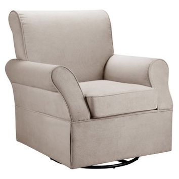 Baby Relax Kelcie Swivel Glider - Comet Doe - Gliders & Nursery Rockers at Hayneedle
