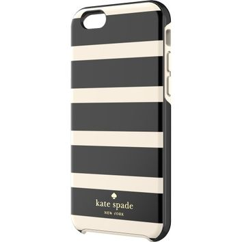 kate spade new york - Hybrid Hard Shell Case for Apple® iPhone® 6 - Black/Tan