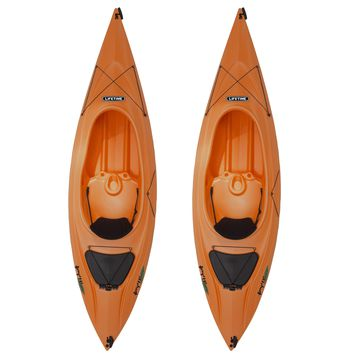 Lifetime Payette Orange 116-inch Kayak Set of Two