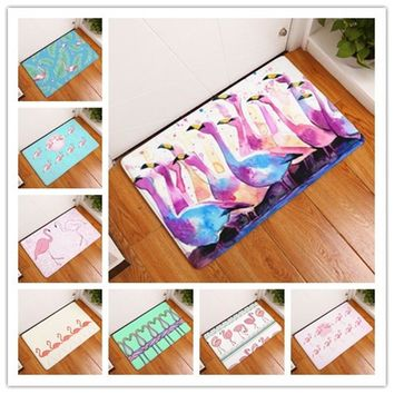 Autumn Fall welcome door mat doormat 201 High Quality Fashion Style Flamingo Print Carpets Anti-slip Floor Mat Outdoor Rugs Beautiful Creative Front s AT_76_7