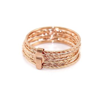 Dainty Rose Gold Stack