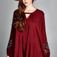 Merry Top Tunic - Maroon