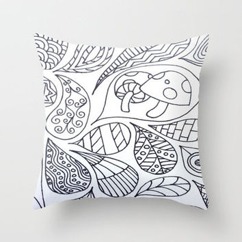 Thought Bubbles Throw Pillow by Molly Jane Kickham
