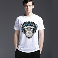 Short Sleeve Cotton Casual Tee Pattern Summer Men's Fashion T-shirts = 6450455683