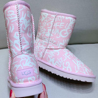 UGG Maiden heart Noctilucent effect Snow boots