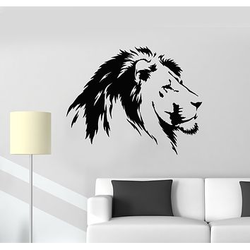 Vinyl Wall Decal Lion Head Predator King  Of Jungle Animal Tribal Zoo Stickers Mural (g1234)